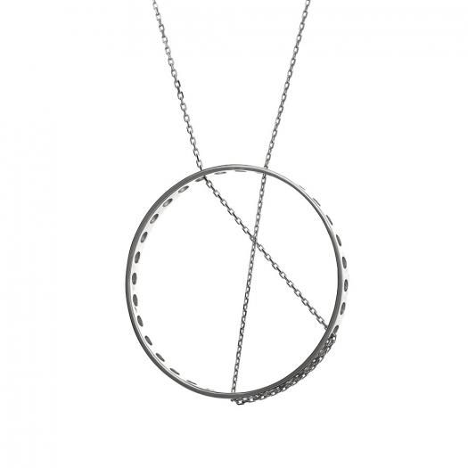 Naszyjnik FRAMES srebrny z kółkiem