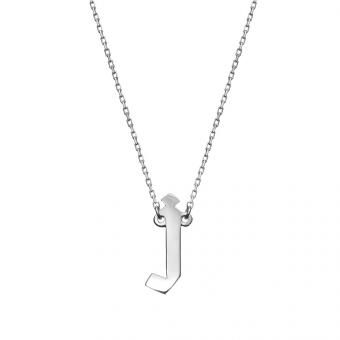 Naszyjnik E. JAK EMOCJE srebrny  z literą J