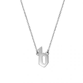 Naszyjnik E. JAK EMOCJE srebrny z literą B