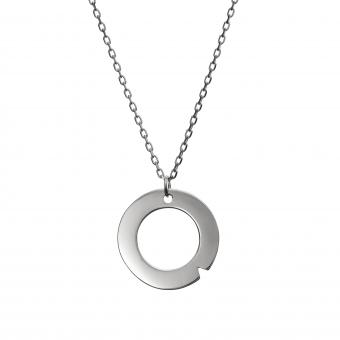 Naszyjnik AZYMUT srebrny z kółkiem