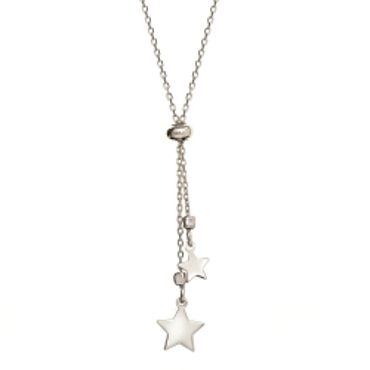 Naszyjnik LOCO STAR srebrny z gwiazdkami