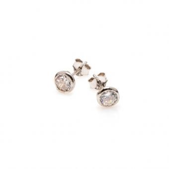 Kolczyki GLAMOUR srebrne z cyrkonią