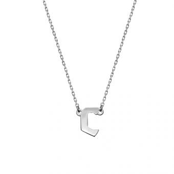 Naszyjnik BELIEVE srebrny z literą C