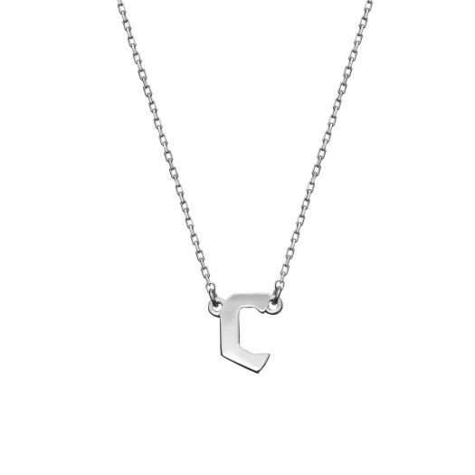 Naszyjnik E. JAK EMOCJE srebrny z literą C