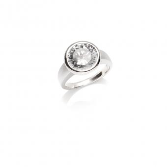 Pierścionek AIDA srebrny z Kryształem Swarovskiego