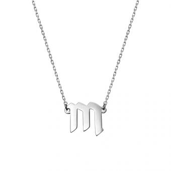 Naszyjnik E. JAK EMOCJE srebrny z literą M