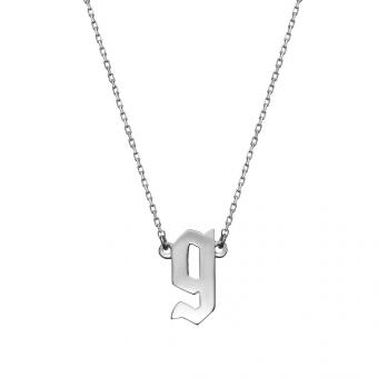 Naszyjnik E. JAK EMOCJE srebrny z literą G