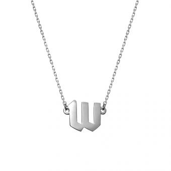 Naszyjnik E. JAK EMOCJE srebrny z literą W