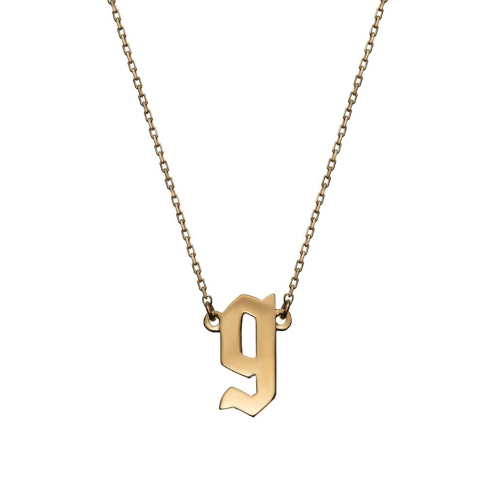 Naszyjnik E. JAK EMOCJE srebrny pozłacany z literą G