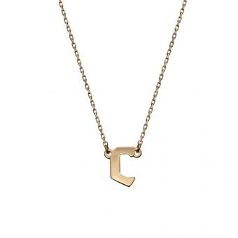 Naszyjnik BELIEVE srebrny pozłacany z literą C