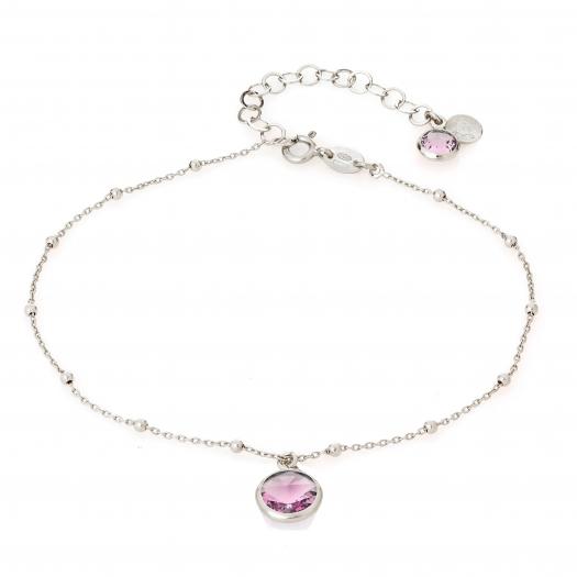 Bransoletka AIDA srebrna z kryształem Swarovskiego