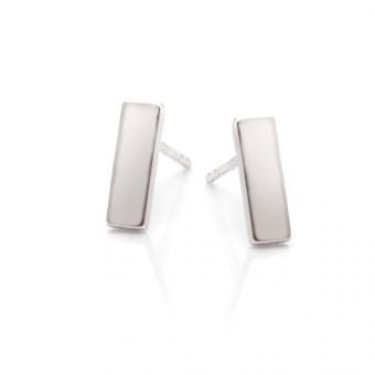 Kolczyki FRAMES srebrne prostokąt