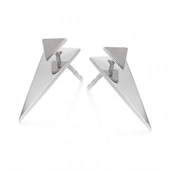 Kolczyki AZYMUT srebrne trójkąt