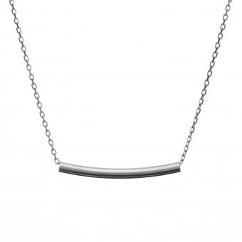 Naszyjnik celebrytka BELIEVE srebrny z rurką