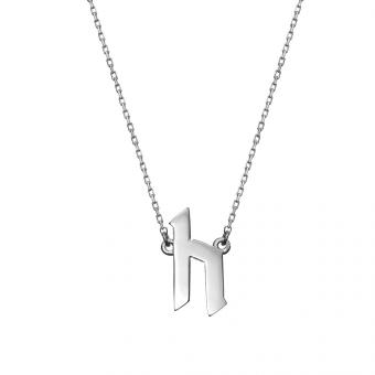 Naszyjnik E. JAK EMOCJE srebrny z literą H