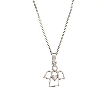 Naszyjnik MINI srebrny z aniołkiem