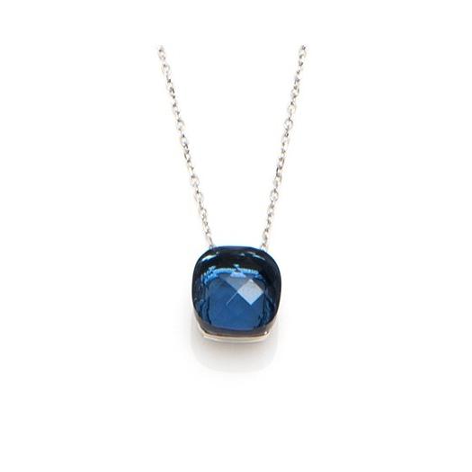 Naszyjnik VENUS srebrny z granatowym kryształem