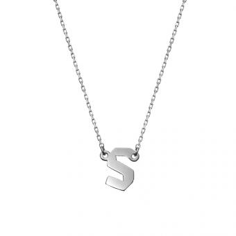 Naszyjnik E. JAK EMOCJE srebrny z literą S