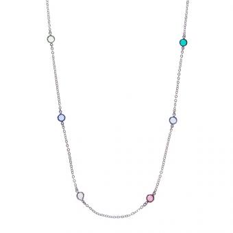 Długi naszyjnik VENUS srebrny z Kryształami Swarovskiego