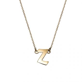 Naszyjnik E. JAK EMOCJE srebrny pozłacany z literą Z