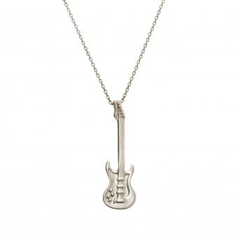 Naszyjnik HOBBY srebrny z gitarą