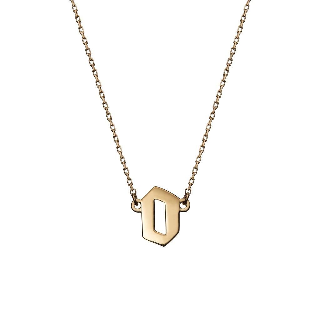 Naszyjnik BELIEVE srebrny pozłacany z literą O