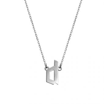 Naszyjnik E. JAK EMOCJE srebrny z literą D