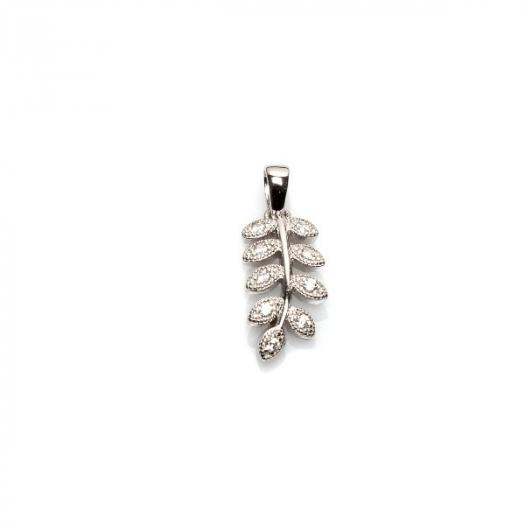 Wisiorek LAURA srebrny gałązka z cyrkoniami