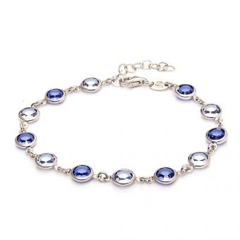 Bransoletka VENUS srebrna z kryształami Swarovskiego