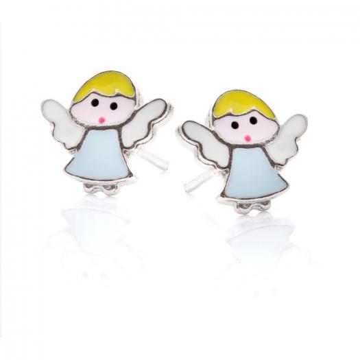 Kolczyki MINI srebrne aniołek