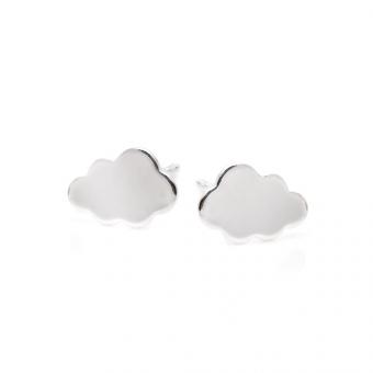 Kolczyki HOBBY srebrne chmurka
