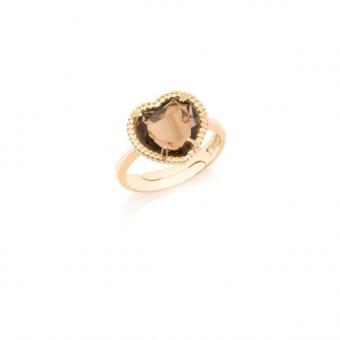 pierścionek VENUS srebrny pozłacany z sercem