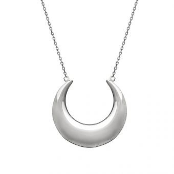 Naszyjnik WILD srebrny z księżycem