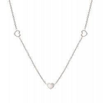 Naszyjnik ROMANTICA srebrny z sercami