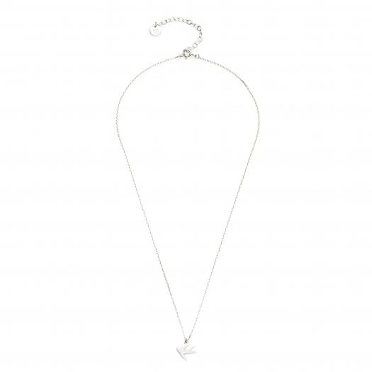 Naszyjnik celebrytka BELIEVE srebrny z jaskółką