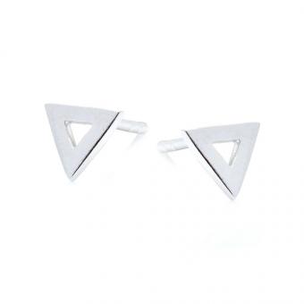 Kolczyki URBAN CHIC srebrne trójkąt