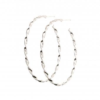 Kolczyki TRENDY srebrne koła 4,5 cm