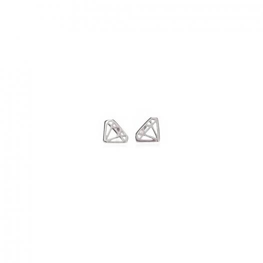 Kolczyki URBAN CHIC srebrne diament