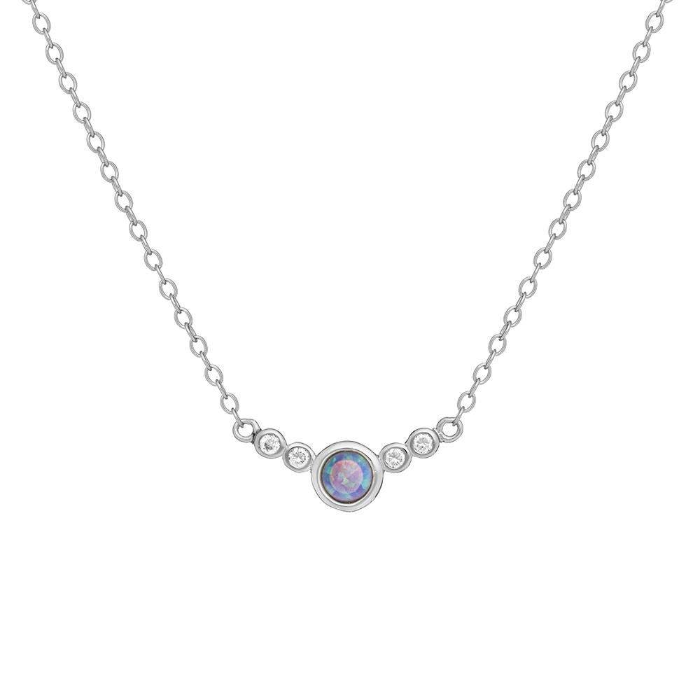 8b5c142f Naszyjnik OVAL srebrny z naturalnym opalem - Ania Kruk
