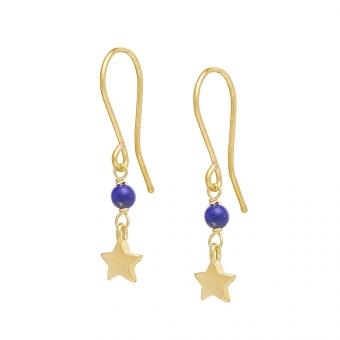 Kolczyki DOLCE VITA złote z lapisem lazuli i gwiazdką
