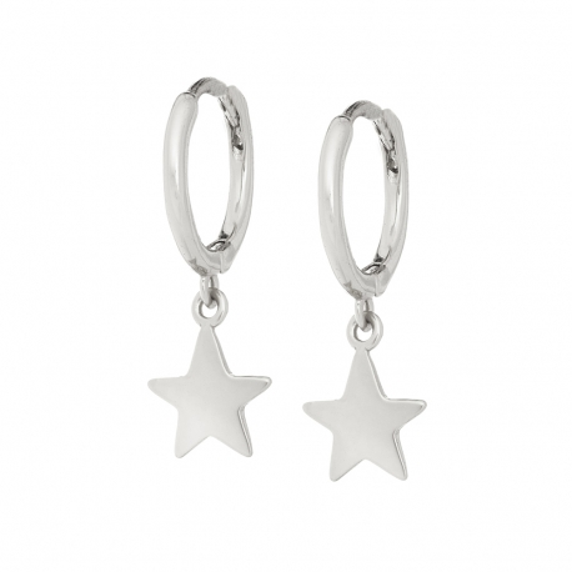 Kolczyki LOCO STAR srebrne gwiazdka