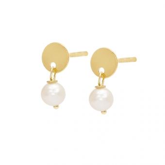 Kolczyki DOLCE VITA złote z perłą