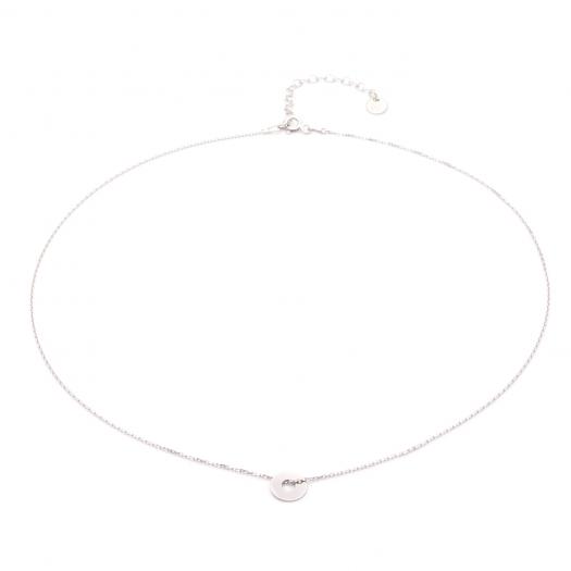 Naszyjnik celebrytka BELIEVE srebrny z kółkiem