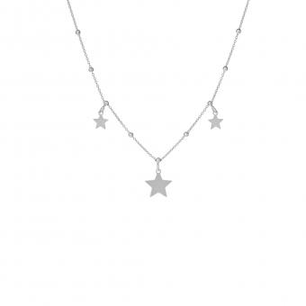 Naszyjnik LOCO STAR srebrny z gwiazdkami i kuleczkami