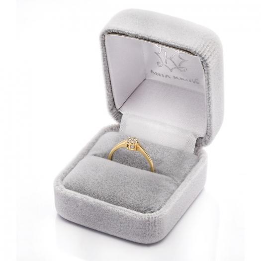 Pierścionek DIAMONDS zloty 585 z brylantami