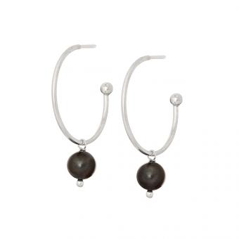 Kolczyki ARIEL srebrne z perłą
