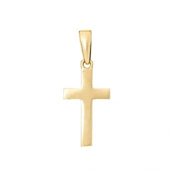 Wisiorek SOFT złoty z krzyżykiem