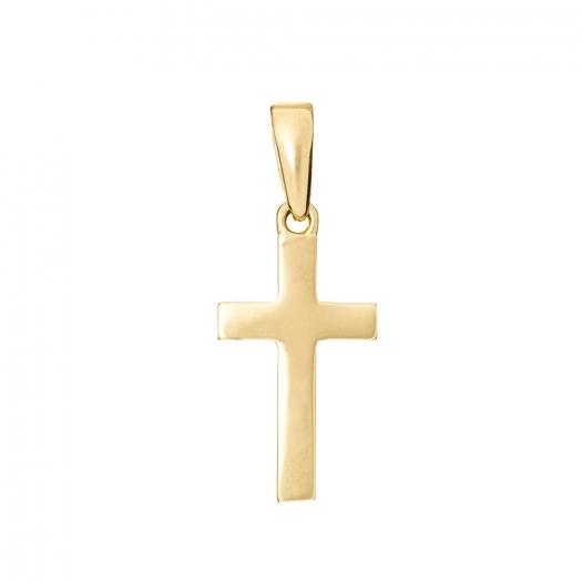 Wisiorek MINI złoty z krzyżykiem