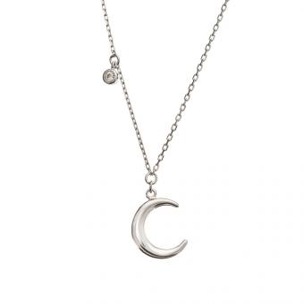 Naszyjnik SKY srebrny z księżycem i cyrkonią