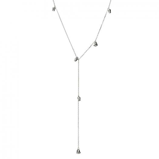 Naszyjnik ROSALIE srebrny z różyczkami